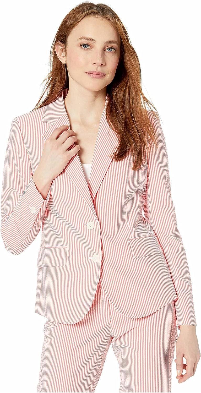 Popular standard Anne Klein Women's Jacket OFFicial Seersucker