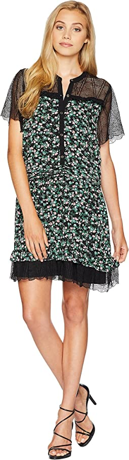 Enchanted Floral Lace Mix Dress
