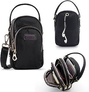 Pequeña Bolso de Teléfono Móvil Mini Bandolera Mujer Bolsos de Mano Nylon Impermeables Bolsa de Hombro Niñas Ligero para iPhone XS MAX XR XS X 8 Plus 8 7 Samsung S10 Plus S9 Plus S10