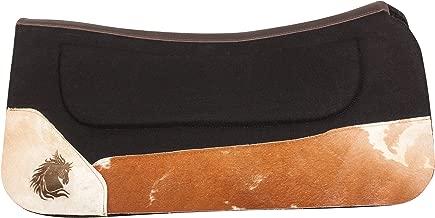 AceRugs New Non Slip Black Gel Infused Felt Western Horse Saddle PAD All Purpose Contour Blanket Tooled Leather TACK