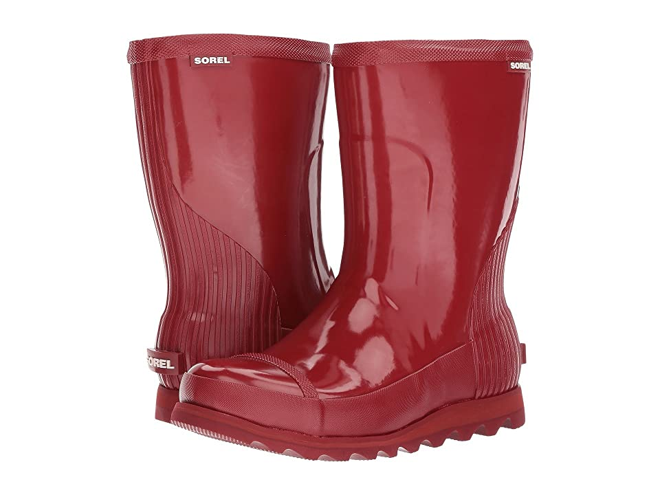 SOREL Joan Rain Short Gloss (Red Dahlia/Candy Apple) Women