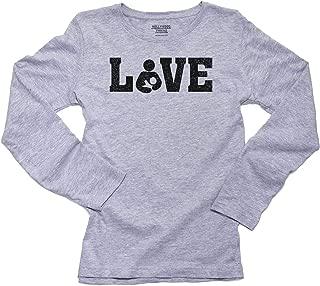 Love - Breastfeeding Symbol Women's Long Sleeve T-Shirt