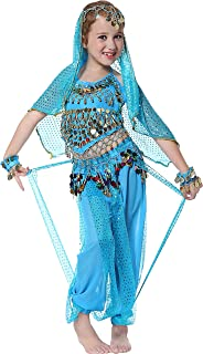 Girls Belly Dancer Costume Halloween Outfit for Kids