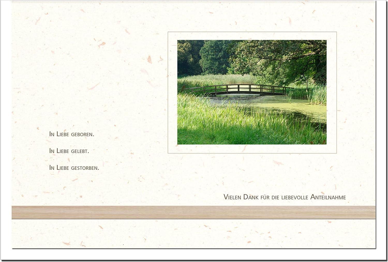 MetALUm Danksagungskarten TRAUER   Steg Steg Steg   25 Karten   1525053 B01BP99CH6   Moderne Muster  ad6f96