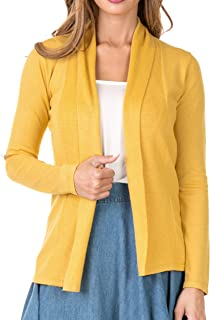 Nolabel Womens Long Sleeve Open Front Draped Shawl Collar Cardigan Kint Sweater Jacket 19 Color (S to 3XL)