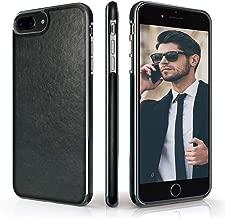 LOHASIC iPhone 8 Plus Case, iPhone 7 Plus Case Premium Leather Luxury Slim Soft Flexible Bumper Non-Slip Grip Anti-Scratch Shockproof Protective Cover Cases for Apple iPhone8 Plus/ iPhone7 Plus -Black