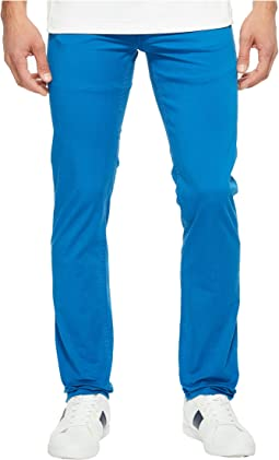 Cotton Twill Stretch Five-Pocket Slim Fit Trousers