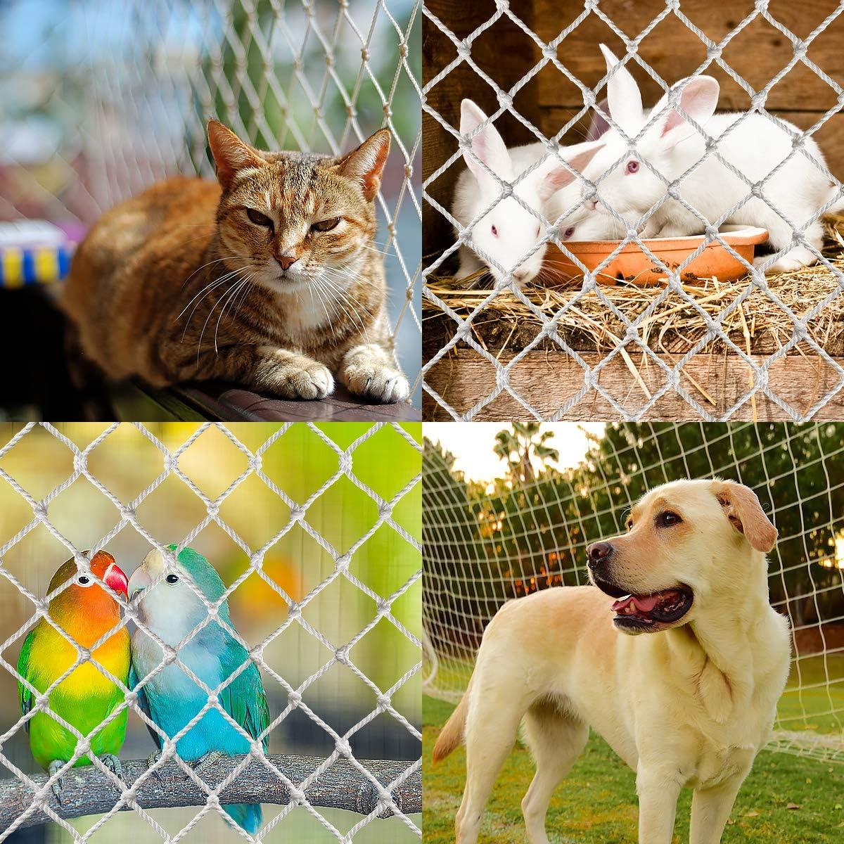 1,5 x 2 m escaleras valla de malla para balc/ón ventanas protecci/ón contra ca/ídas YOPOTIKA Red de seguridad para gatos y mascotas