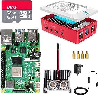 Raspberry Pi 4 8Go, Raspberry Pi 4 Modèle B 8 Go Kit avec 32 Go Carte Micro SD Classe 10, Premium Boîtier, Dissipateur Mod...