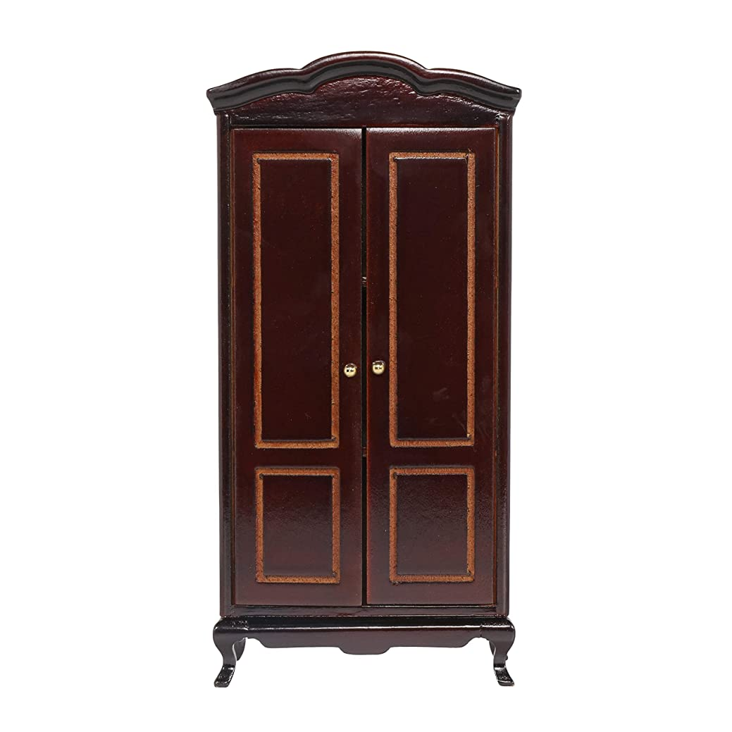 清める望むケントMiniature Dollhouse Cabinet - Dolls House Furniture Wardrobe - Black - 1/12 Scale