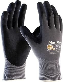 G-Tek TM MaxiFlex 34-874 Seamless Knit Nylon Gloves Size Large (3 Pairs)