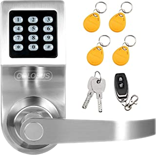 Colosus NDL302 Keyless Electronic Digital Smart Door Lock, Keypad – Smartcode Security, Grant & Control Access for Home, Office (Silver - 4 Key Fobs)