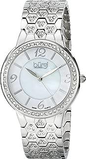 Burgi Women's Luxury Analogue Display Swiss Quartz Watch with Metal Bracelet