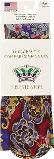 Celeste Stein Therapeutic Compression Socks, Bright Oriental, 15-20 Mmhg, Moderate