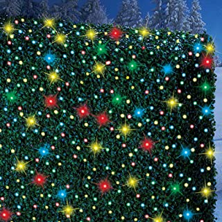 Collections Etc Solar Powered Outdoor String Lights, Decoration for Garden, Yard, Patio, Christmas, Tree, Party, Holiday, Home, White, 500