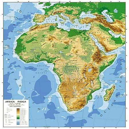 Cartina Muta India Da Stampare.Africa Cartina Muta Fisica