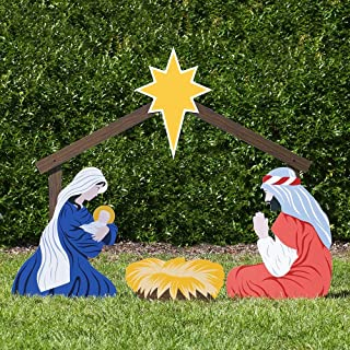 Outdoor Nativity Store Holy Family Outdoor Nativity Set (Large, Color)