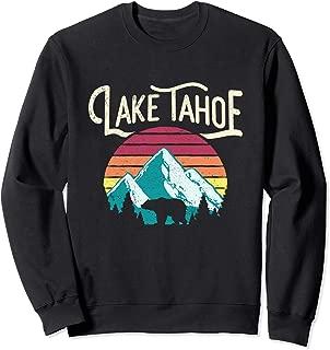 Vintage Lake Tahoe Mountain Bear Retro Sweat Shirt