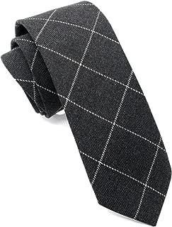 "ZENXUS Casual Skinny Neckties for Men 2½"" Cotton Plaid/Floral Slim Ties Pack"