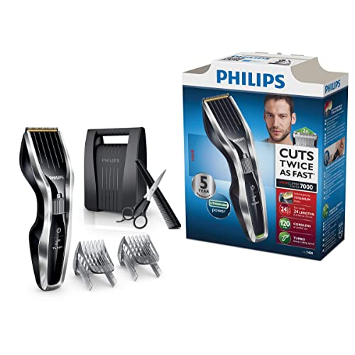 Philips HC7450/80 Tondeuse cheveux Series 7000 avec malette de rangement
