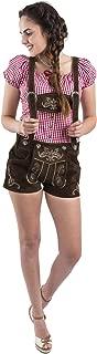 Schöneberger Trachten Couture Women's Original Lederhosen German Bavarian Hotpants - Ladies Trouser Pants