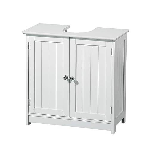 Premier Housewares - Mueble para debajo del lavabo (madera, 2 puertas), color