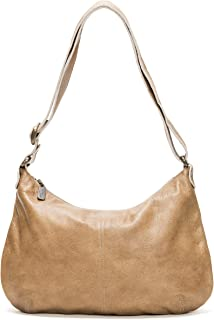 product image for Tan Leather Hobo Crossbody Bag