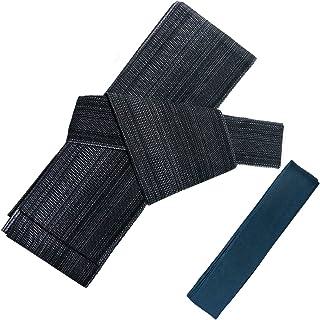 (キョウエツ) KYOETSU 日本製 ワンタッチ角帯+腰紐 2点セット 綿 絣 (角帯/腰紐)
