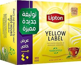 شاي اسود العلامة الصفراء من ليبتون - 100 كيس شاي
