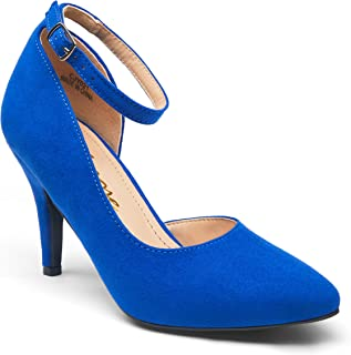Women's High Heel D'Orsay Pumps Sexy Ankle Strap Stiletto Heels Formal Dress Shoes for Women