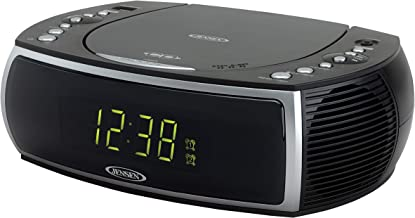 Jensen Modern Home CD Tabletop Stereo Clock Digital AM/FM Radio CD Player Dual Alarm..