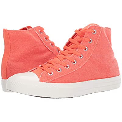 Converse Chuck Taylor All Star Washed Out Hi (Turf Orange/Egret/Egret) Classic Shoes