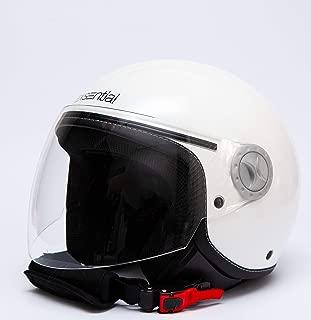 Exsential EX 730VL - Casco semijet, blanco brillante para scooter y moto, talla XL