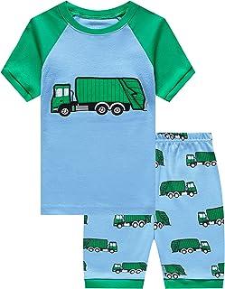 Little Boys Pajamas Dinosaur Space Shorts Kids Pjs Summer...