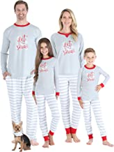 Sleepyheads Holiday Family Matching Winter Snowflake Grey Stripe Pajama PJ Sets