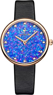 Watches for Women 12 Diamonds Ladies Watches Leather Buckle Band 32mm Sapphire Glass Plate Daily Luxury Style Fashion Jewelry for Women
