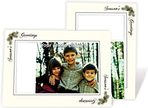 product image for Pinecone Season's Greetings - 4x6 Photo Insert Note Cards - 24 Pack by Plymouth