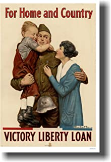 For Home and Country - Victory Liberty Loan - Vintage WWI Reproduction Poster