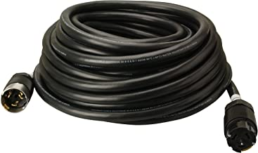 Southwire 19190008 6/3 & 8/1 SEOW 50 Amp, 125/250-Volt Outdoor Extension Cord CA-Style CS63 Twist-Lock, Custom Blended Jacket, Extra Hard Usage Cord, 100-Feet, 100-Foot, Black