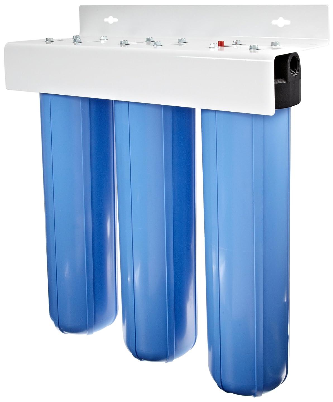 農場次に慣れPentek PENTEK-BBFS-222 Three Big Blue Housing Water Filter System
