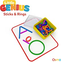 Osmo - Little Genius Sticks & Rings - Includes 2 Games - Abcs & Squiggle Magic - Ages 3-5 - Preschool Ages - Imagination, Letter Formation, Fine Motor Skills, Problem Solving & Creativity