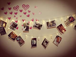 ETTP Led Bedroom Lights, Photo Clips String Lights, Fun and Cute Decorations Lights, USB Powered, 30 LEDs, Warm White - for Hanging Photos Pictures Cards