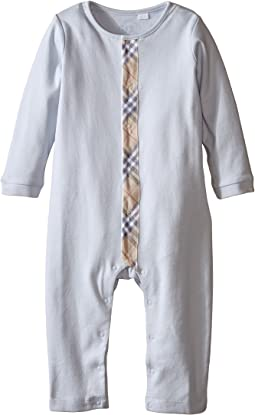 Burberry Kids - Check Trim Cotton Jumpsuit (Infant/Toddler)