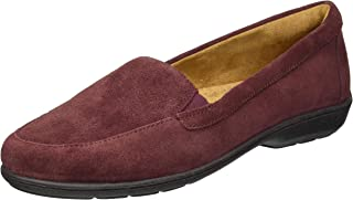 Natural Soul Women's Kacy Loafer, Wine Suede, 7.5 M US