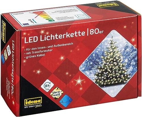 960 LED Eisregen Lichterkette 24 m lang warmweiß Weihnachten Deko außen