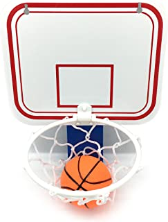 Silfrae Basketball Trash Can Basketball Hoop Trash Can Office Basketball Trash Can Basketball Goal Trash Can Basketball Hoop for Garbage Can Office Living Room and Bed Room (Blue Clip)