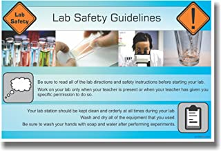 Lab Safety Guidelines - Classroom Science Poster