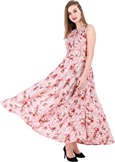 d09de3767 16 Always Women's Pink Dress, Western Dresses,Maxi Dress- Fancy Dress for  Women