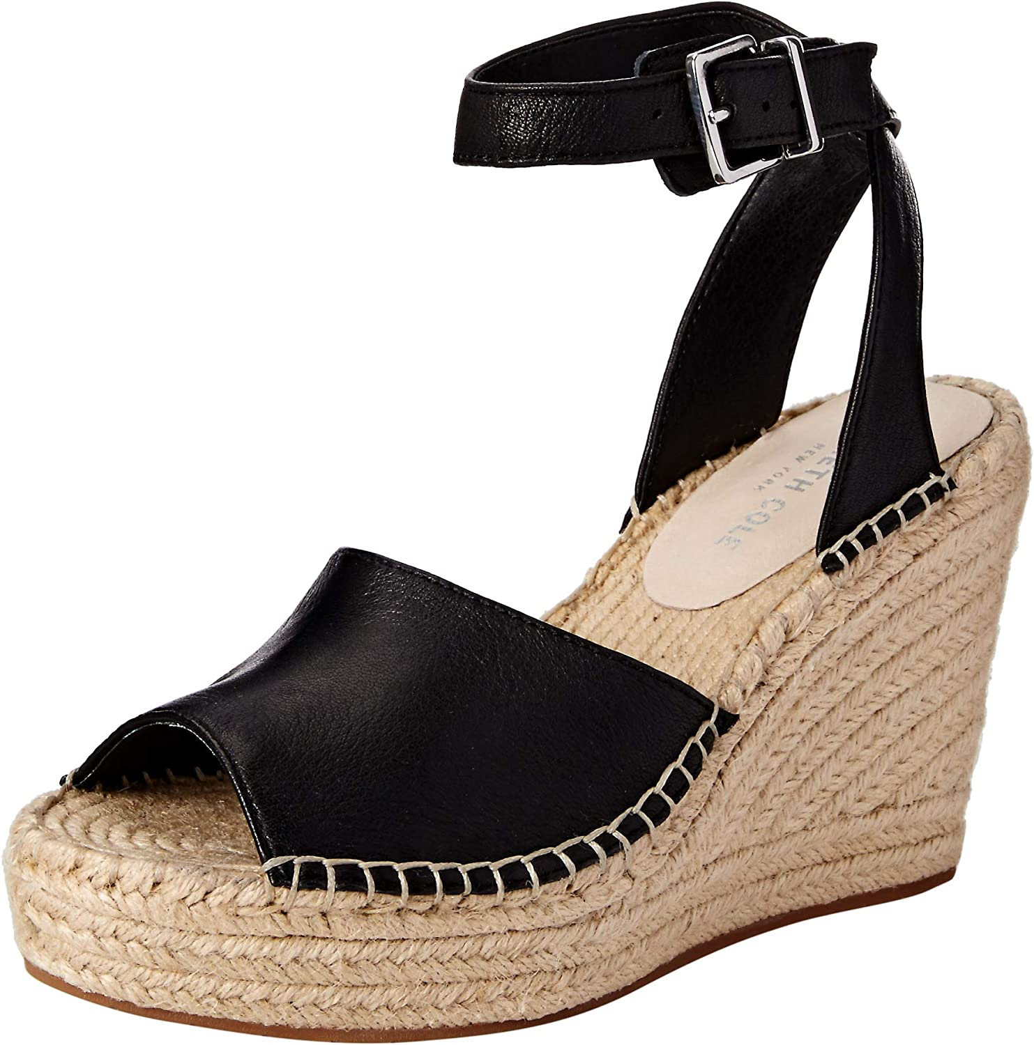 Kenneth Cole New York Womens Olivia Two Piece Espadrille Wedge Sandal Espadrille Wedge Sandal