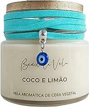 Vela aromatizada perfumada de cera vegetal Coco e limão